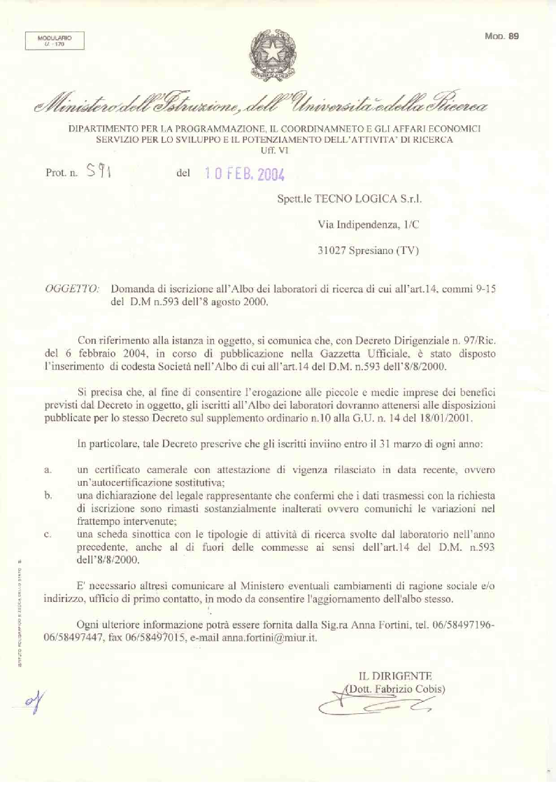 Miur Document