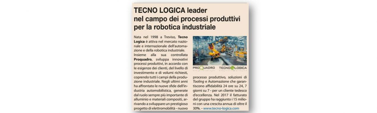 Tecno Logica Group Featured in  IL SOLE 24 ORE